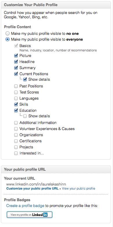 LinkedIn profile - CustomizePubProfileAll
