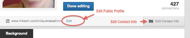 LinkedIn profile - EditPublicProfile&ContactInfo