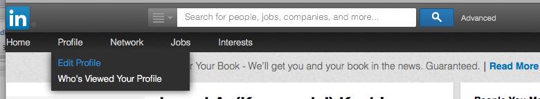 LinkedIn profile - Enter Edit Mode