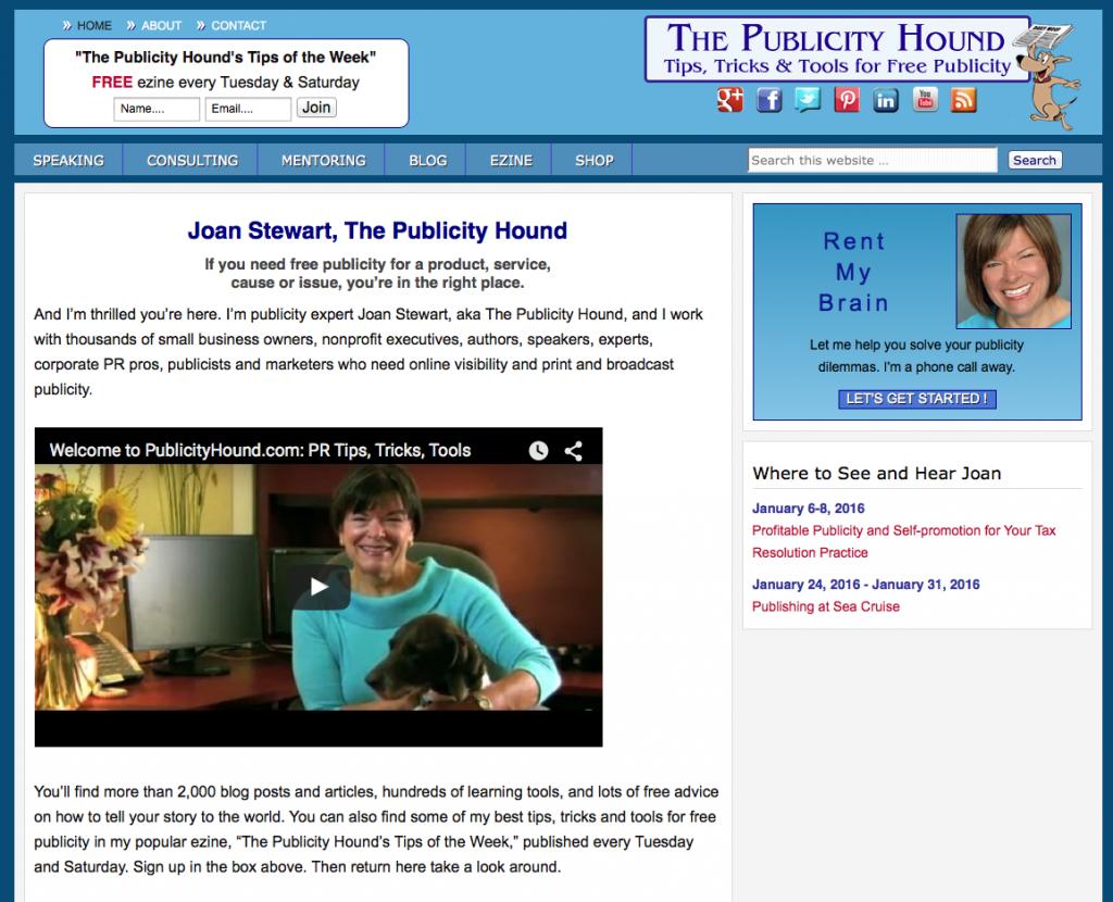Write Stuff Resources PublicityHound.com screen grab
