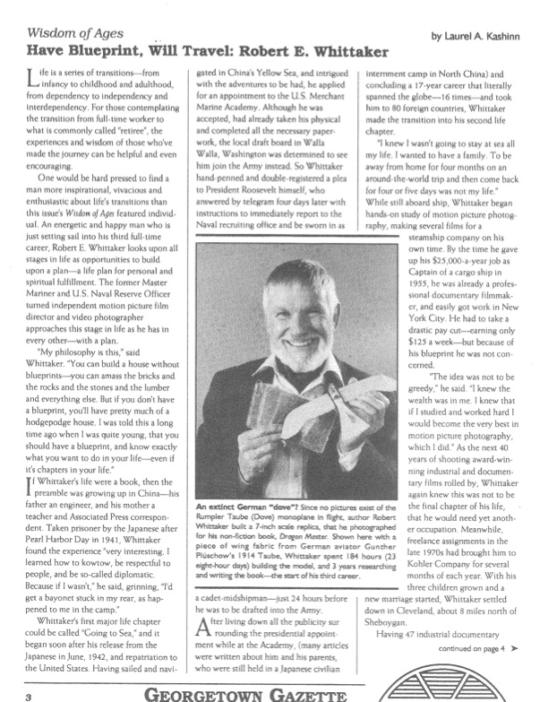 Robert E. Whittaker article